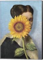 Framed Girl with Sunflower