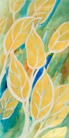 Framed Swaying Leaves I