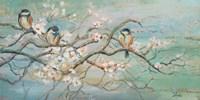 Framed Spring Branch with Birds