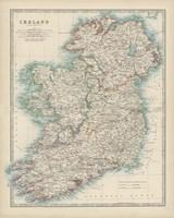 Framed Map of Ireland