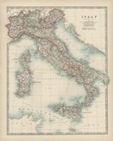 Framed Map of Italy