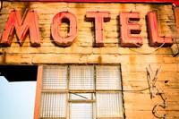 Framed Old Motel Sign, Route 66