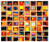 Framed 64 Abstract Paintings