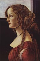 Framed Portrait of Simonetta Vespucci