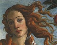 Framed Birth of Venus (Head of Venus), 1486