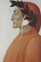 Framed Portrait of Dante Alighieri