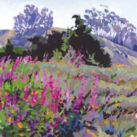 Framed Spring Haze, Eucalyptus on the Ridge