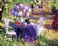 Framed Lilac Tea Party