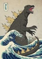 Framed Great Monster off Kanagawa