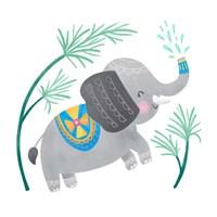 Framed Playful Pals -Elephant