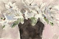 Framed Magnolia Watercolor Study II