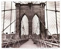 Framed Brooklyn Bridge - sepia