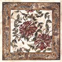 Framed Zinnia Tapestry