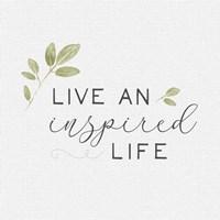 Framed Inspired Life I