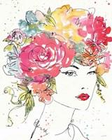 Framed Floral Figures I