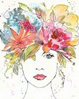 Framed Floral Figures III