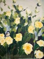Framed Bird on Roses