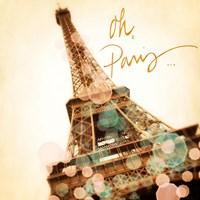Framed Oh Paris