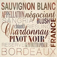 Framed Wine Words II