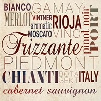 Framed Wine Words I