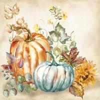 Framed Watercolor Harvest Pumpkin I