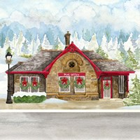 Framed Christmas Village III