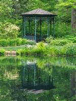 Framed Delaware, Gazebo Overlooking A Pond