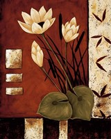 Framed Lotus Silhouette I