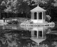 Framed Gazebo Reflected In Pond Seaville NJ