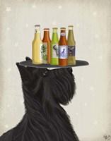 Framed Scottish Terrier Beer Lover
