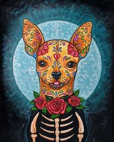 Framed Chihuahua- Day of the Dead