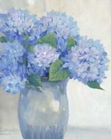 Framed Blue Hydrangeas in Vase I