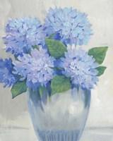 Framed Blue Hydrangeas in Vase II