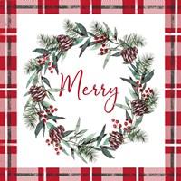 Framed Merry Red
