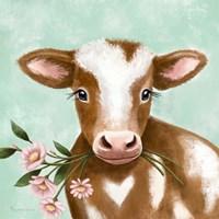 Framed Farmhouse Cow II