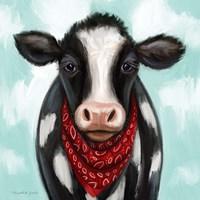 Framed Cow Boy