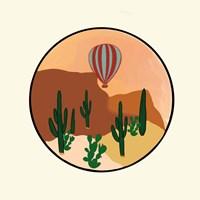 Framed Hot Air Desert