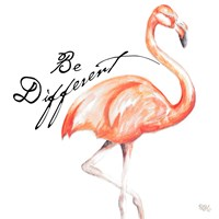 Framed Be Different Flamingo I