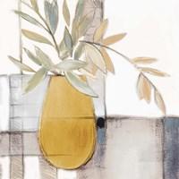 Framed Golden Afternoon Bamboo Leaves I