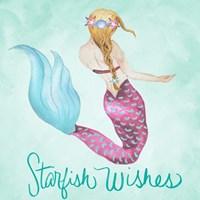 Framed Starfish Wishes