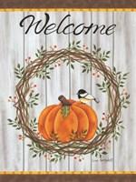 Framed Pumpkin Welcome Wreath