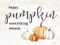 Framed Happy Pumpkin Everything Season