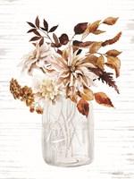 Framed Autumn Floral I