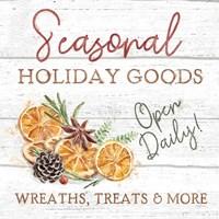 Framed Seasonal Market VI