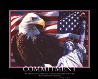 Framed Patriotic-Commitment