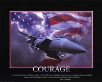 Framed Patriotic-Courage