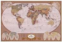 Framed Map of the World (mollweide projection)