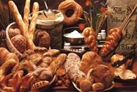 Framed Bread on Table