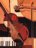 Framed Abstract Violin