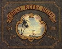Framed Coral Reyes Hotel